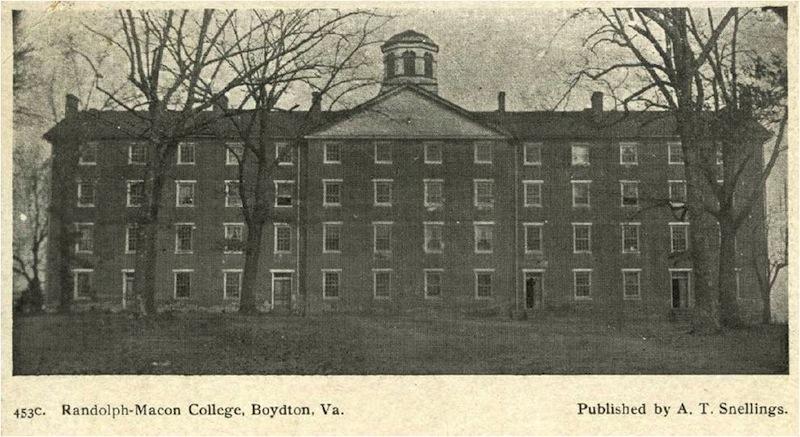 Randolph Macon College Boydton Institute Historic Site